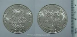 504m KM#708 Portugal - 1000 Escudos 1998 Santa Casa da Misericórdia (Prata)