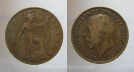 Great Britain KM#810GB14a - ONE PENNY 1914