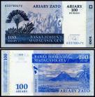 Madagascar MDG100=500(2004)s - 100 ARIARY = 500 FRANCS 2004