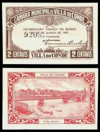 Portugal cédula MA2355 - 2 CENTAVOS Câmara Municipal de VILA DO CONDE