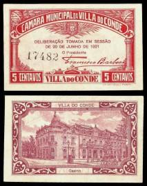 Portugal cédula MA2356 - 5 CENTAVOS Câmara Municipal de VILA DO CONDE