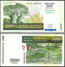 Madagascar MDG2000=10000(2012)d - 2000 ARIARY = 10000 FRANCS 2004