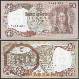 Portugal BP084(ANS11046) Chapa8 - 50 ESCUDOS 28 Fevereiro 1964 Rainha Santa Isabel