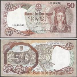Portugal BP084(LM69202) Chapa8 - 50 ESCUDOS 28 Fevereiro 1964 Rainha Santa Isabel