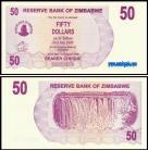 Zimbabué ZWE50(2006) - 50 DOLLARS 2006